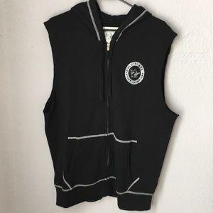 True Religion hoodie vest with zipper XL